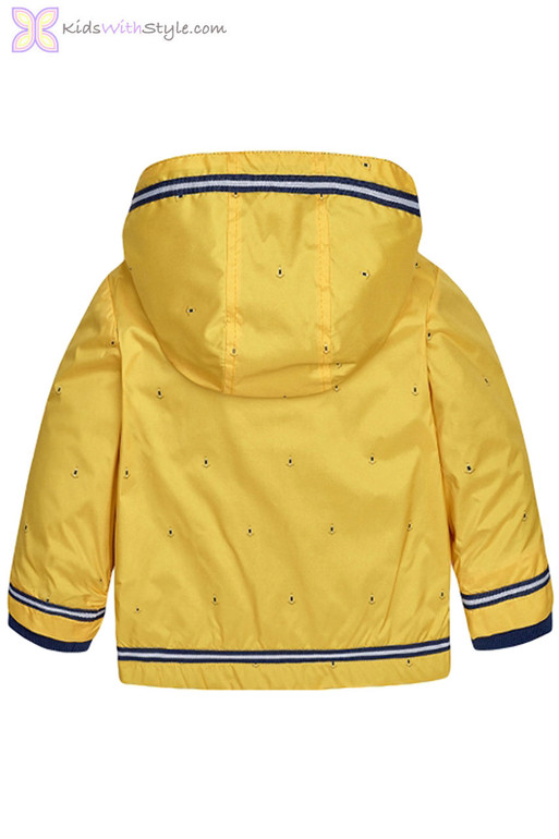 af9ac1454 Baby Boy Anchor Pattern Windbreaker Jacket in Yellow | Shop Baby Boy ...