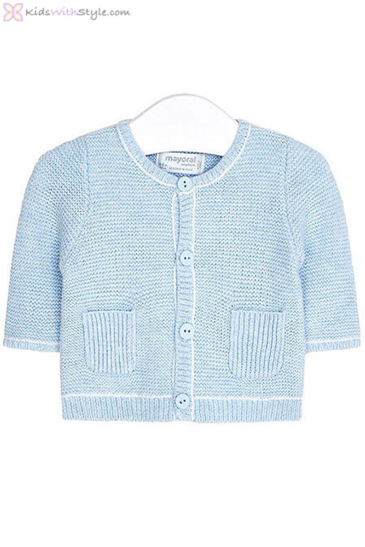279d32ba9 Baby Boy Knit Cardigan in Sky Blue