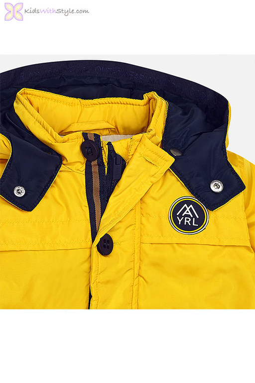 c1f9cf989 Boys Nautical Coat in Golden Yellow | Shop Boys Jackets & Coats