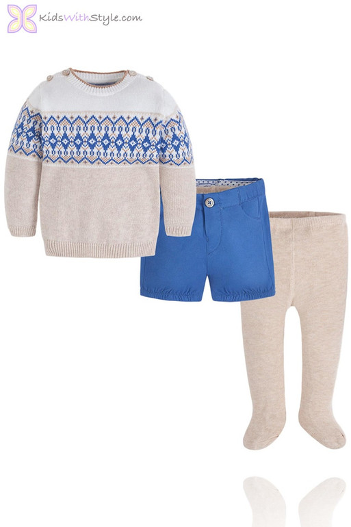 afad7d5272a95 Cobalt Blue 3 Pieces Set of Sweater, Shorts and Tights ...