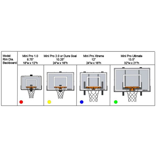 Mini Pro Xtreme Basketball Hoop Set
