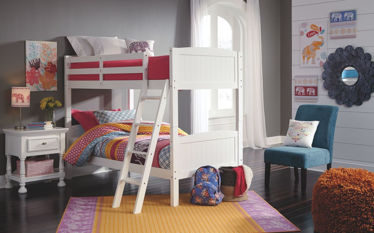 The Kaslyn White Twin Twin Bunk Bed Available At Dayton Discount Furniture Serving Vandalia Kettering And Springfield Ohio