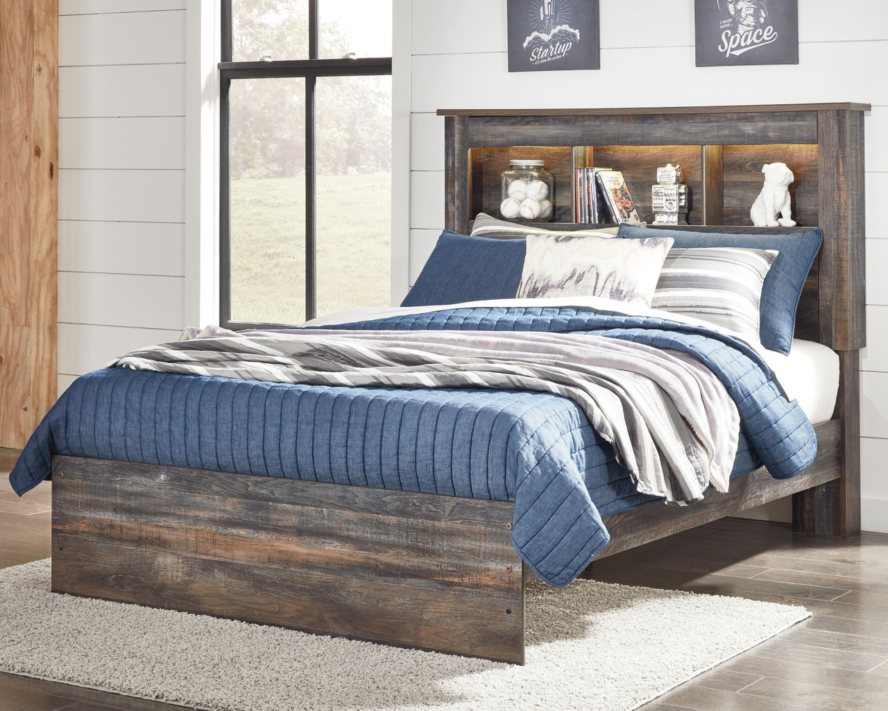 The Drystan Multi Full Bookcase Bed Available At Dayton Discount Furniture Serving Vandalia Kettering And Springfield Ohio