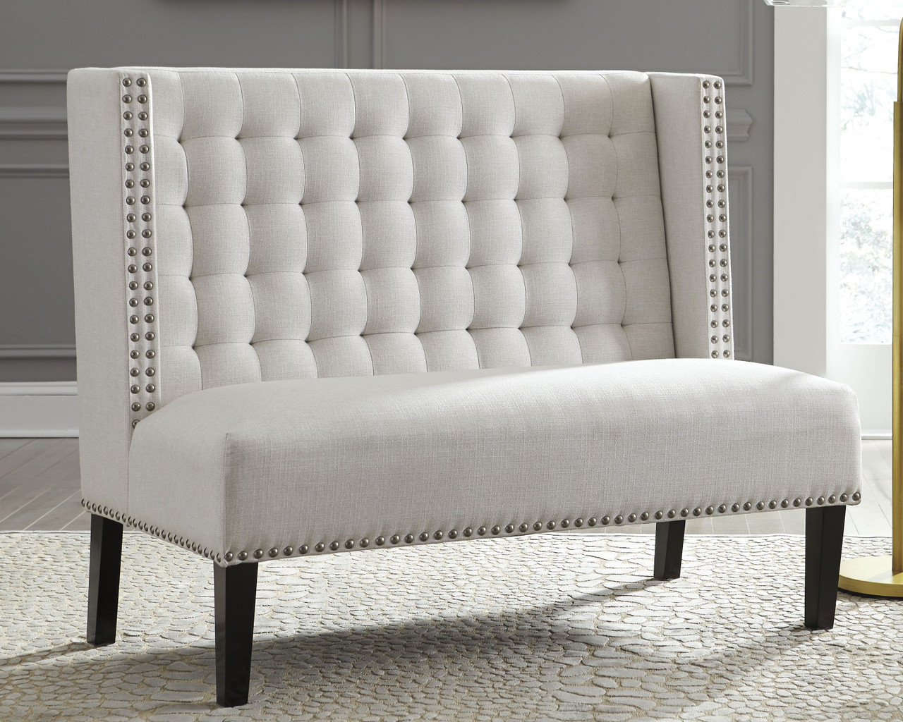 The Beauland Ivory Accent Bench Available At Dayton Discount
