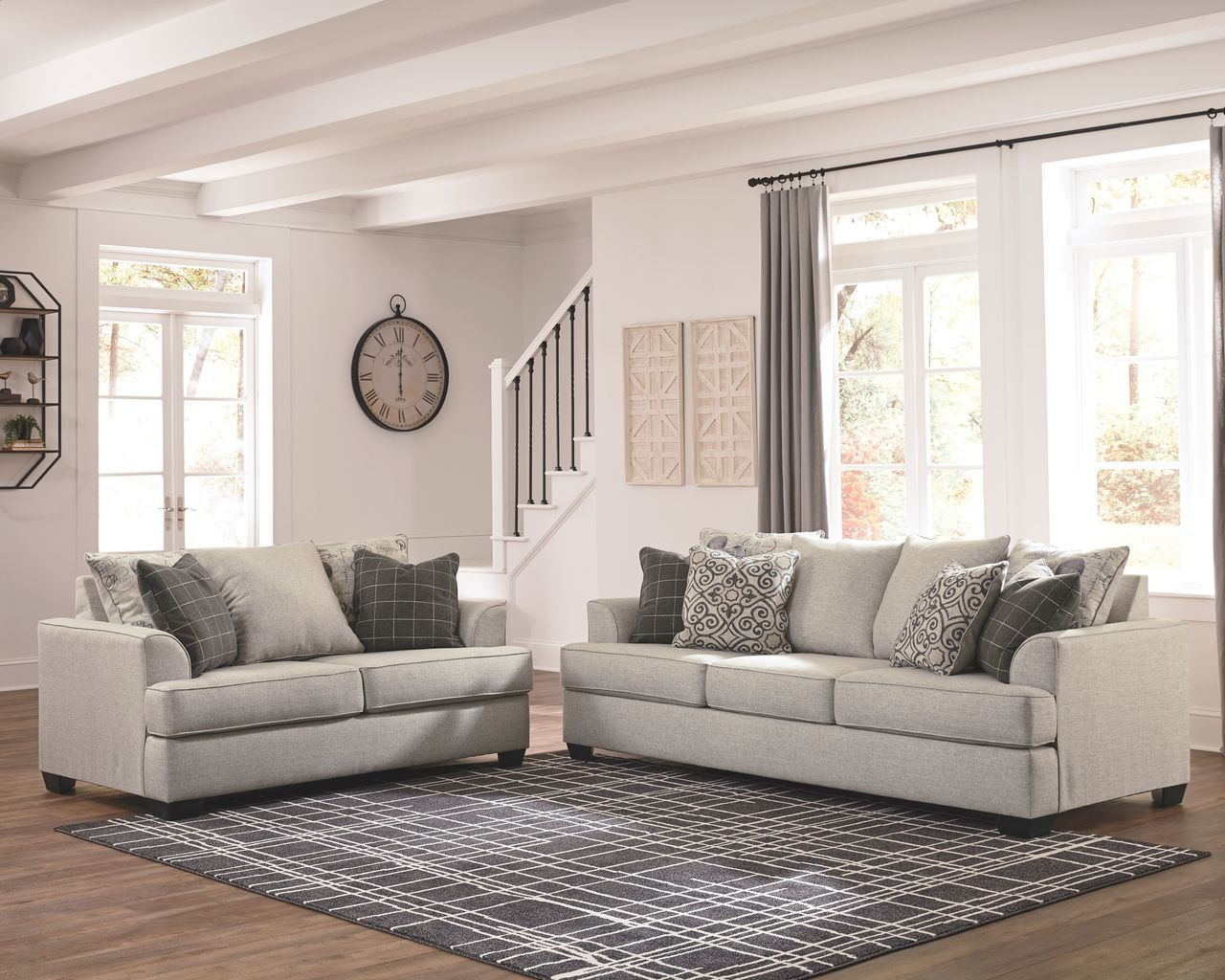 The Velletri Pewter Sofa Loveseat Available At Dayton Discount