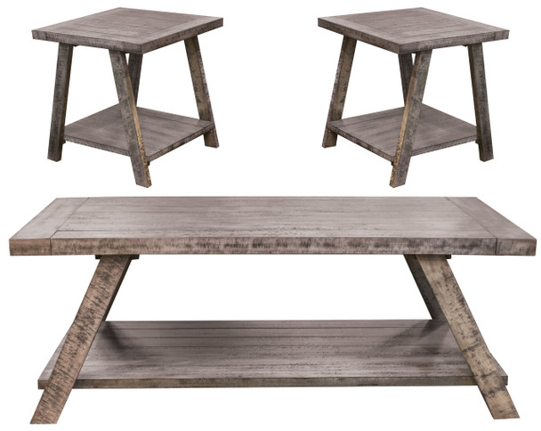 Cloud Gray Occasional Table Set (3/CN)