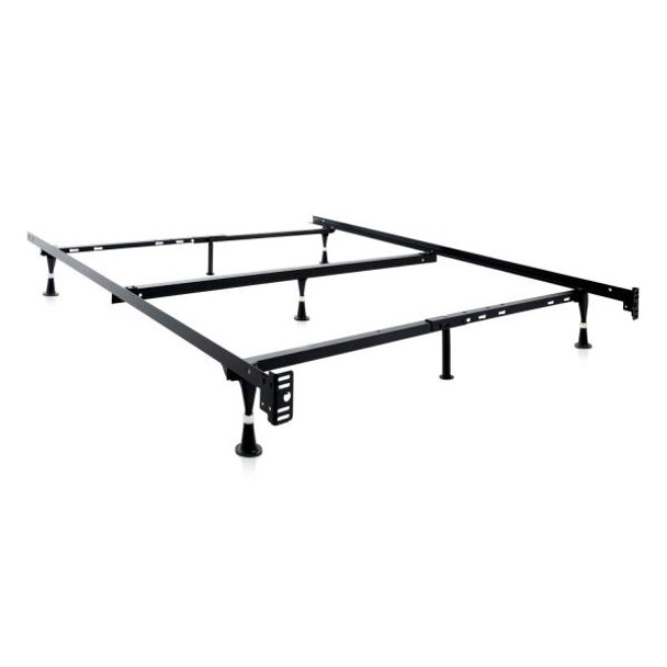 Structures Adjustable Queen/Full/Twin Bed Frame with Glides