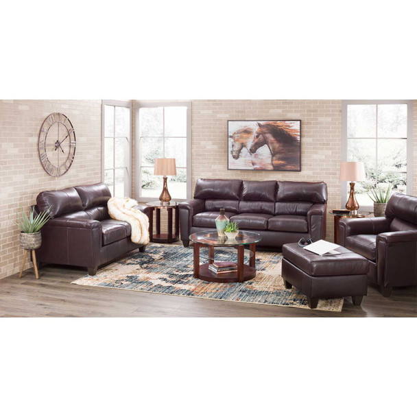Soft Touch Bark Leather Sofa and Loveseat