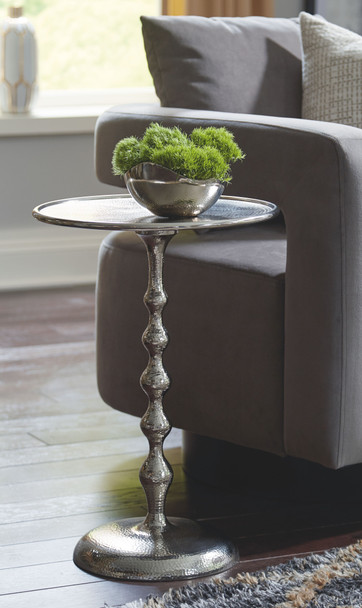 Chaseton Silver Finish Accent Table