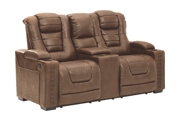 Owner's Box Thyme Power Reclining Loveseat/CON/ADJ HDRST