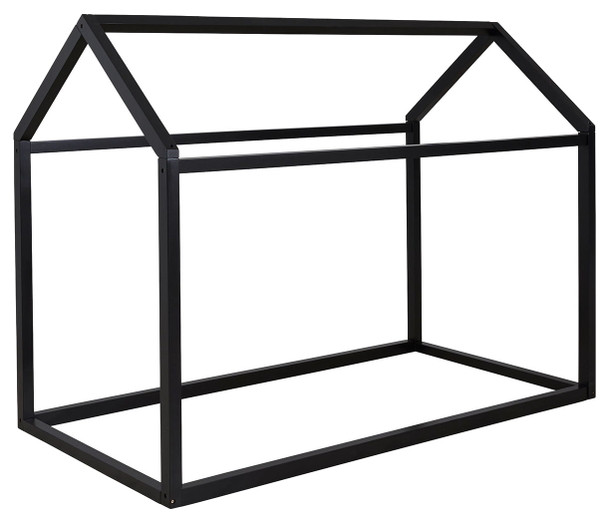 Flannibrook Black Twin House Bed Frame