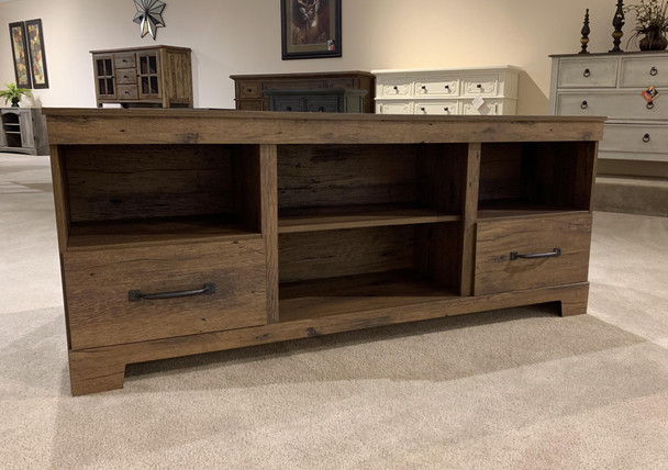 Cheyenne Brown Large TV Stand with Fireplace Option