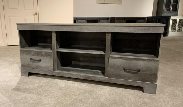 Gambrell Brown LG TV Stand w/Fireplace Option