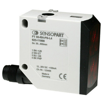Sensopart Photo Electric Sensor Proximity Switches With Background Suppression FT 55-RLH-PS-L4 (623-11018)