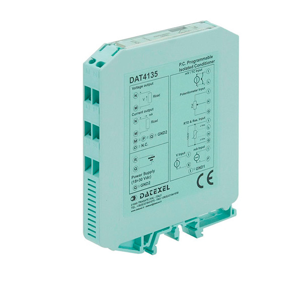 Datexel Temperature Transmitter Isolated Din Rail Mountain Type DAT 4135-SEL