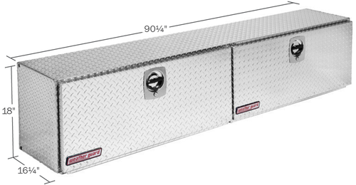 Model 391-0-02 Super-Side Box, Aluminum, 15.2 cu. ft.