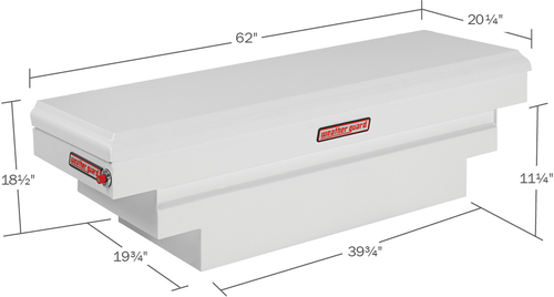 Model 136-3-01 Saddle Box, Steel, Compact Deep, 8.9 cu. ft.