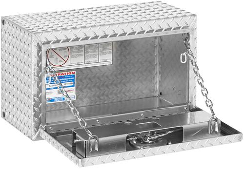 Model 622-0-02 Underbed Box, Aluminum, Compact, 2.4 cu. ft.