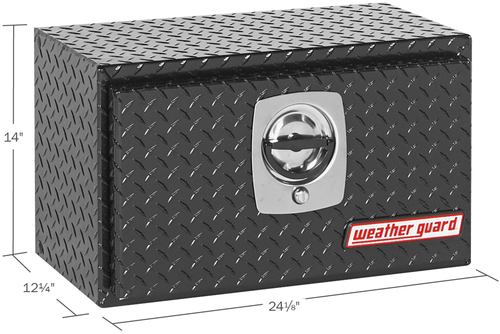 Model 622-5-02 Underbed Box, Aluminum, Compact, 2.4 cu. ft