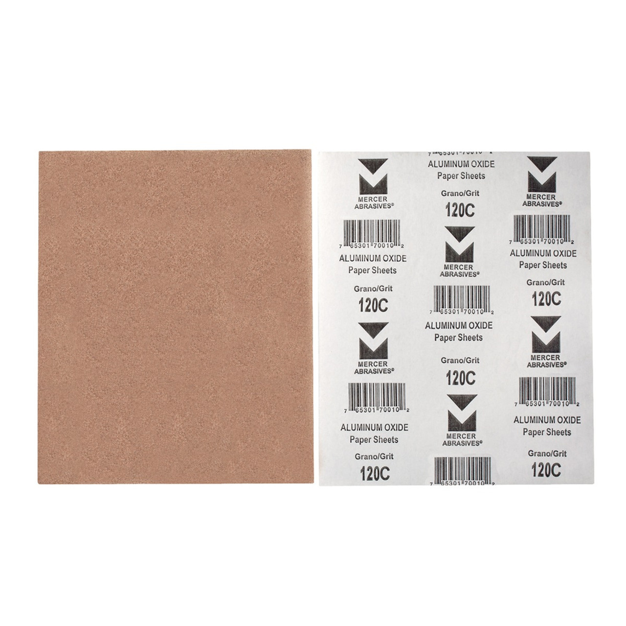 Bundle of 10 9 x 11 Aluminum Oxide Paper Sanding Sheets 180 Grit