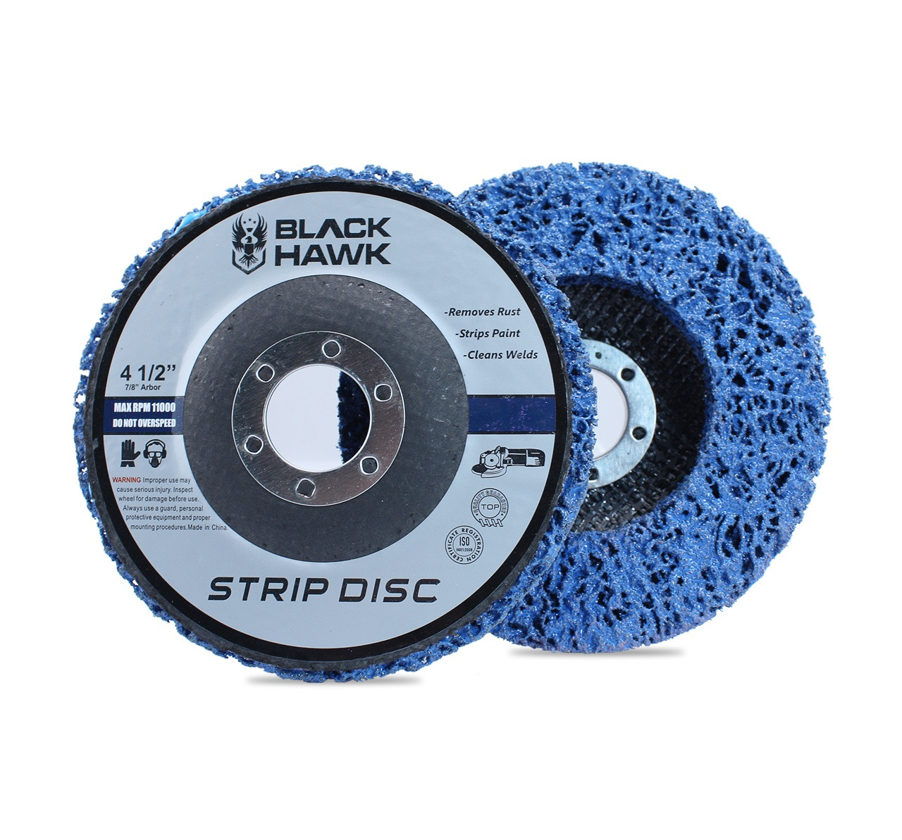 10 Pack 4-1//2 x 7//8 Strip/&Clean Discs Fit For Angle Grinders-Removes Rust Strips Paint Cleans Welds