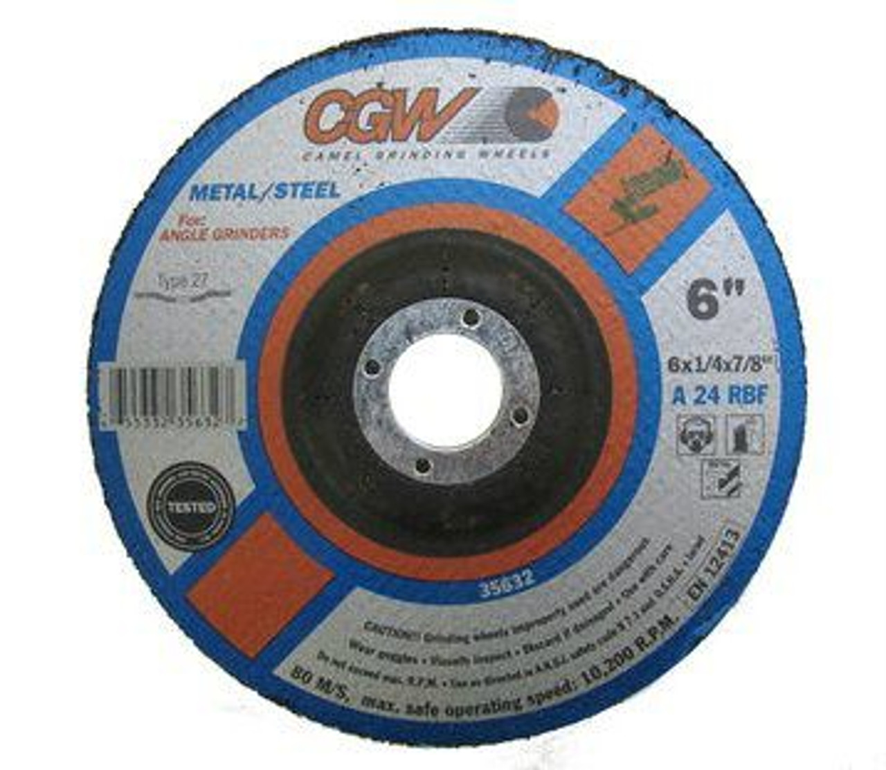 "7/"" x 1//4/"" x 7//8/"" Metal Grinding Wheels T27 Discs for Angle Grinders 25 Pack"