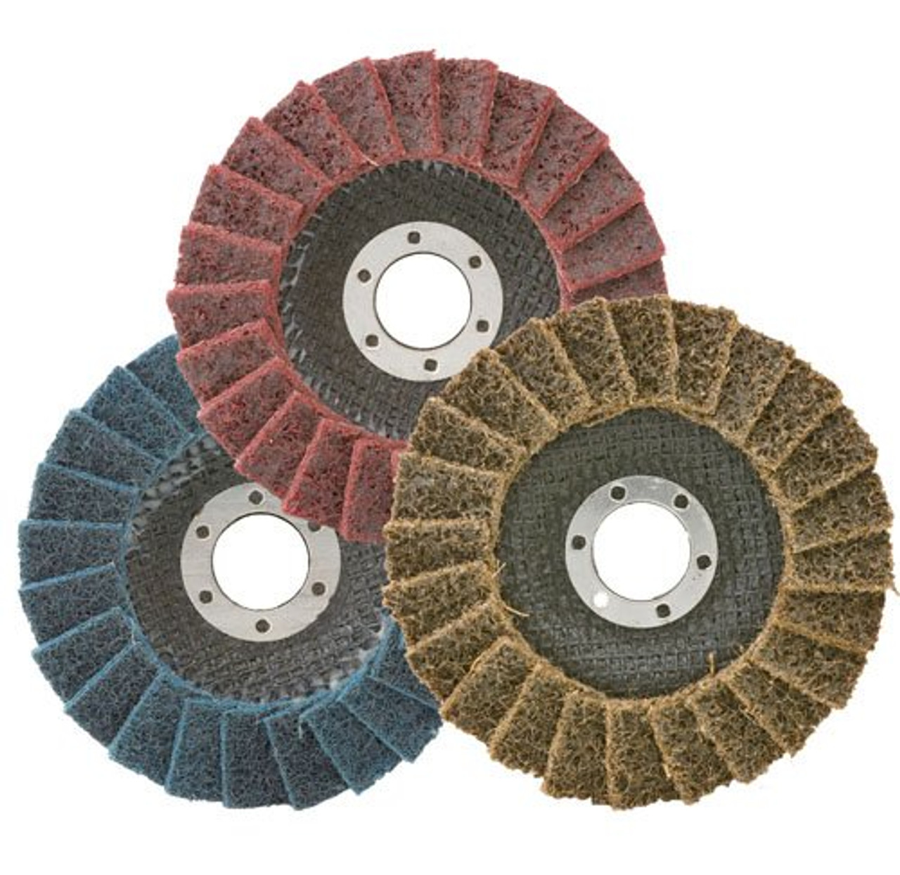 25 Pack 2 Black Hawk Blue Surface Conditioning Quick Change Discs Fine Prep Pad
