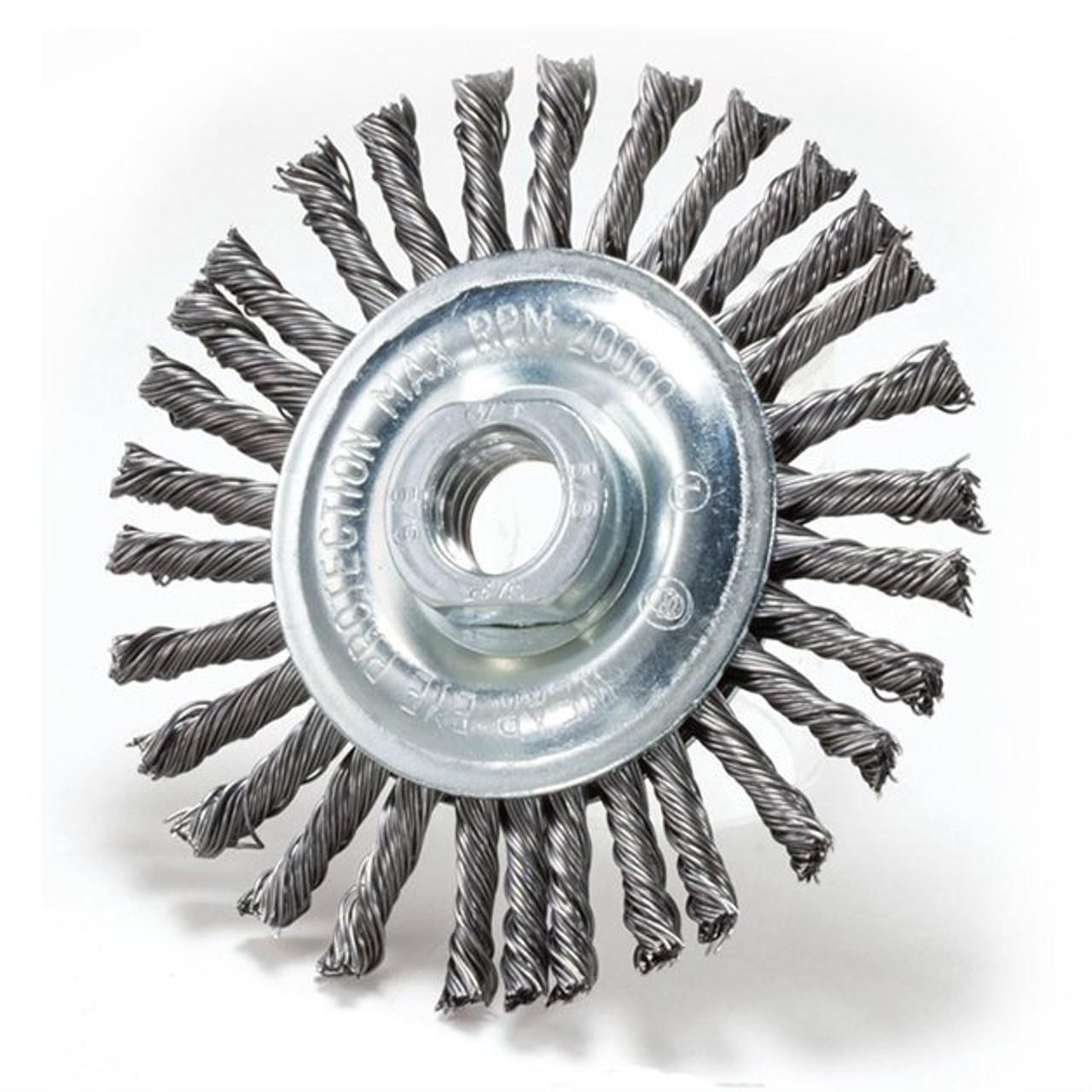 "4/"" Stringer Bead Wire Wheel 5 Pack Carbon Steel"