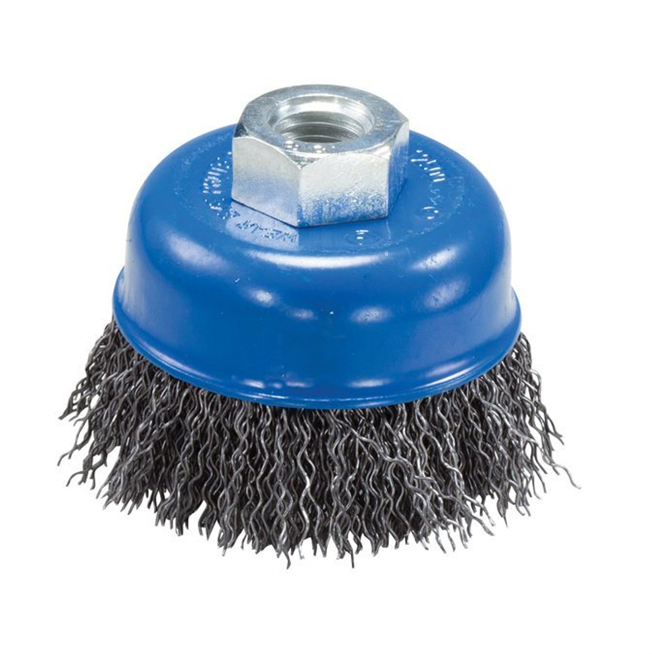 """Deburring Wire Brush Carbon Steel 4/"""" x 1//2/"""" x 5//8-11/"""" Crimped Wire Wheel Brush"""