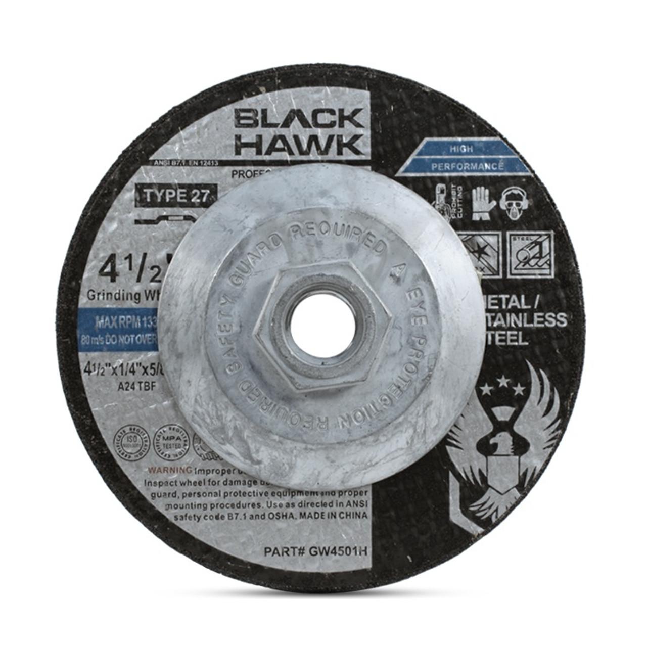 """4/"""" x 1//4/"""" x 5//8/"""" Grinding Wheel Type 27 30pk Metal"""