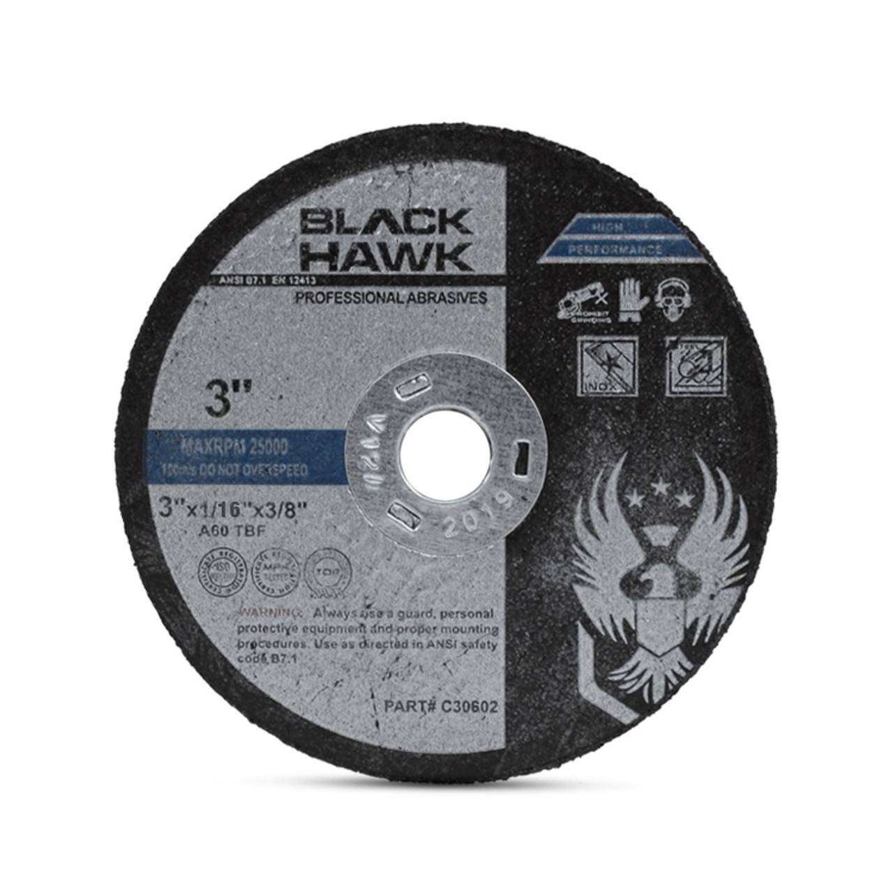 """~ 100 ~ 3/"""" x 1//16 thick x 3//8 AIR METAL CUT OFF WHEEL CUTTING DISC 25,000 RPM"""