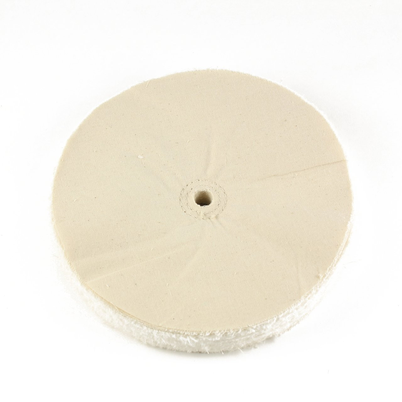 "60 Ply Spiral Sewn Polishing Muslin Cotton Buffing Wheel 4/"" x 1//2/"" Arbor Hole"