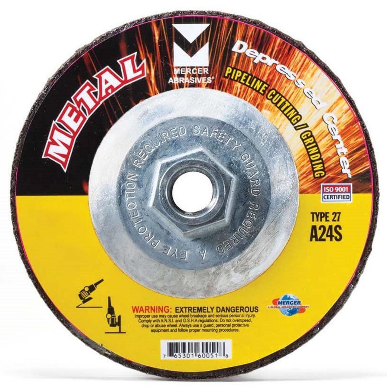 RPM 7//8 Arbor 4-1//2 Type 27 Zirconia Alumina Depressed Center Wheels pack of 5 13,300 Max 1//8-Thick