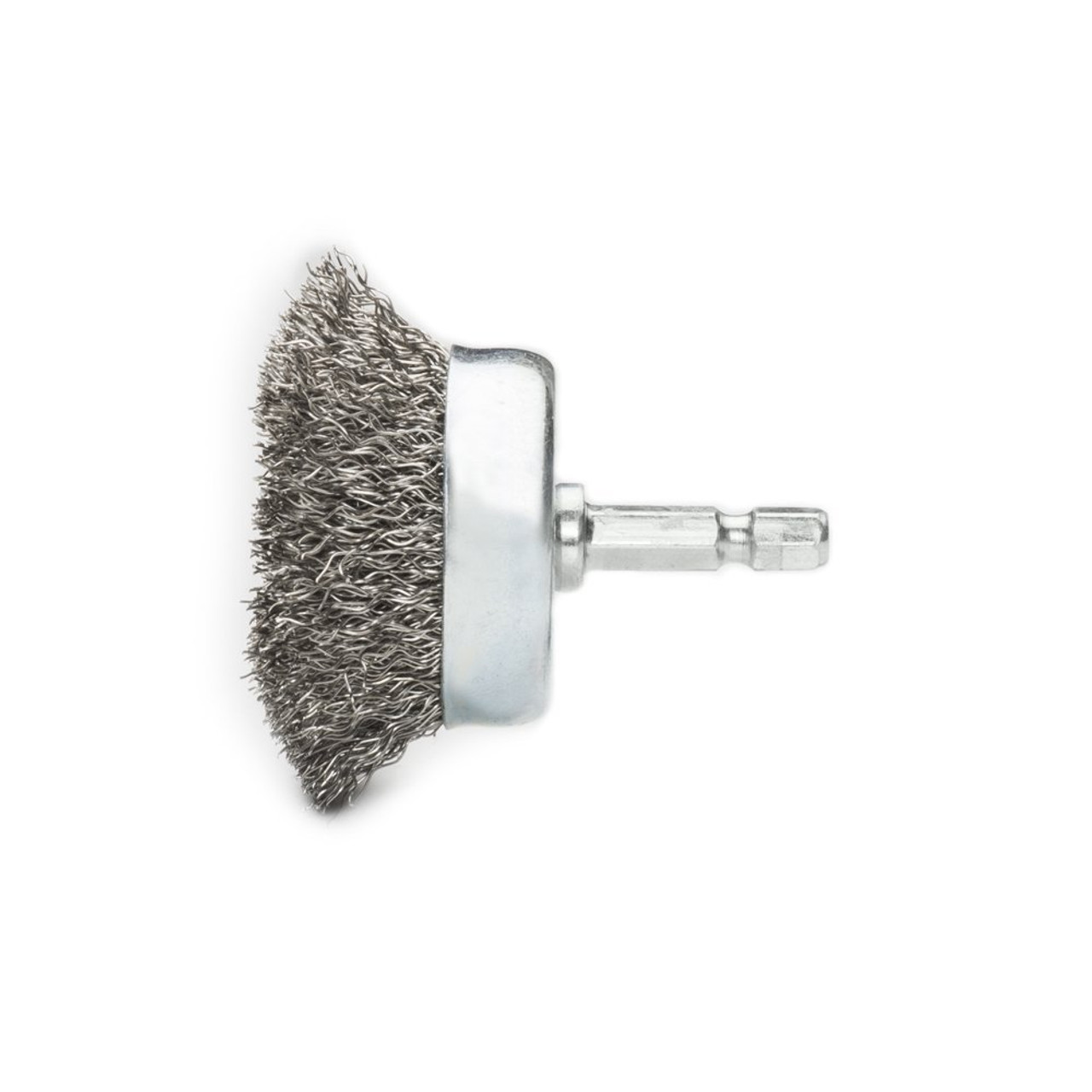 """3/"""" Crimped Wire Cup Brush Carbon Steel with 1//4/"""" Shank for Die Grinder or Drill"""