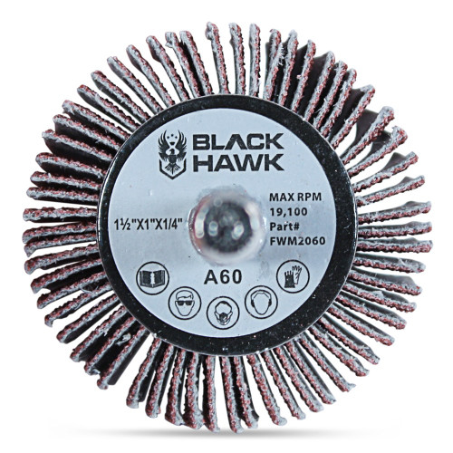 "80 Grit Aluminum Oxide 5 Pack 2/"" x 1/"" x 1//4/"" Shank Mounted Flap Wheels"