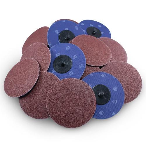 Neiko Roloc Type 2-Inch Silicon Carbide Sanding Disc 25 Pieces 36 Grit