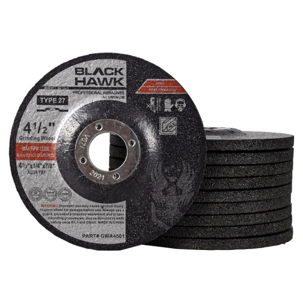 6 in Dia 24 Grit Hardness R 1//4 in Thick 41 Pack Depressed Center Wheel Type 27