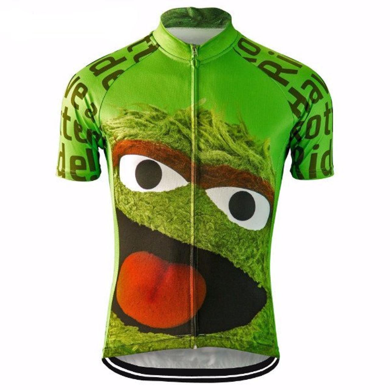 5dd095ad9 Oscar The Grouch Sesame Street Cycling Jersey