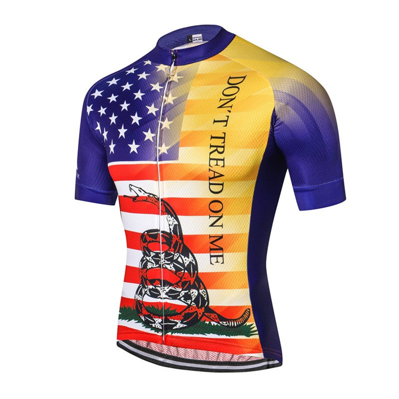 Don't Tread On Me USA Flag Men's Cycling Jersey