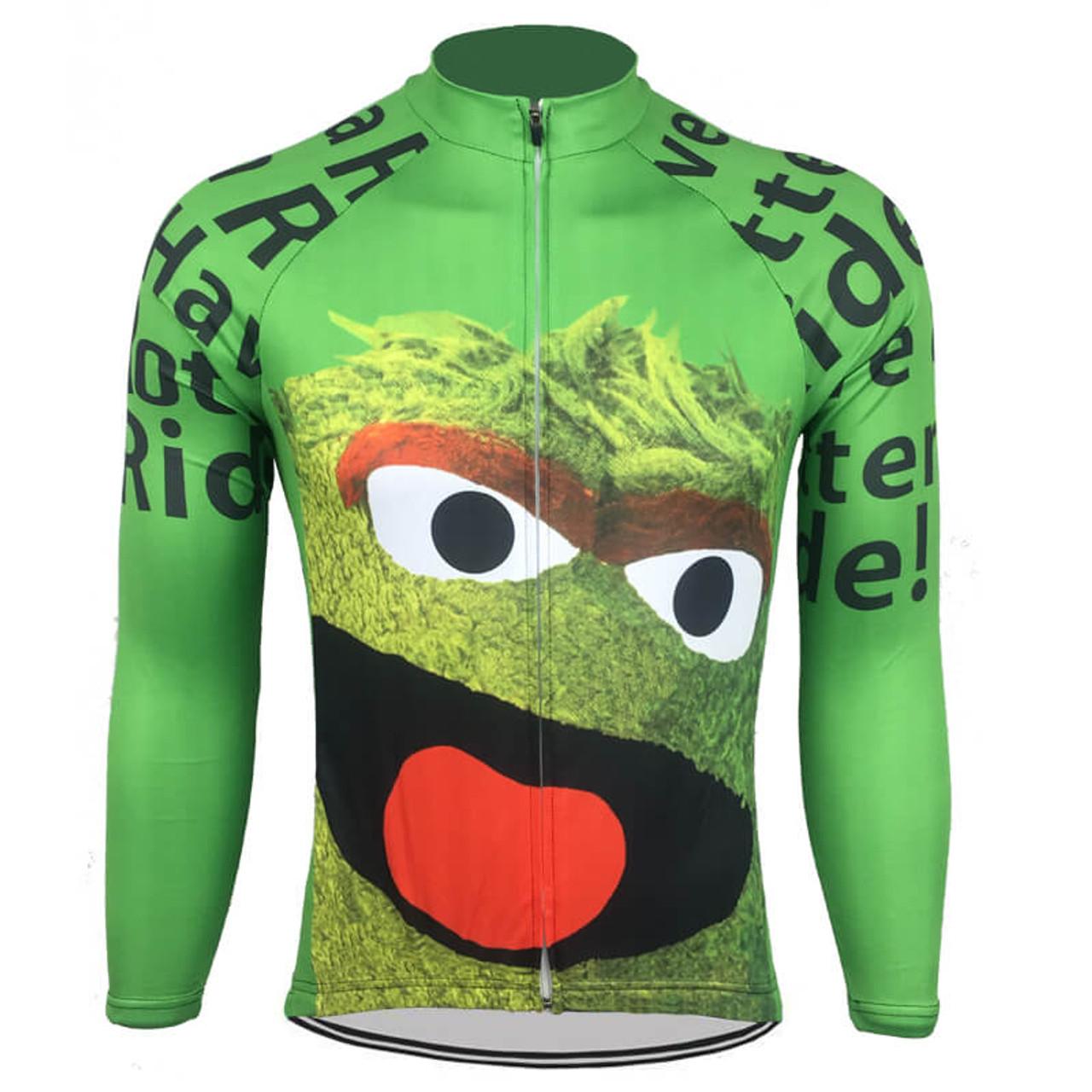 Oscar The Grouch Sesame Street Long Sleeve Cycling Jersey