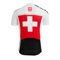 Switzerland Flag Mens Cycling Jerseys Red White