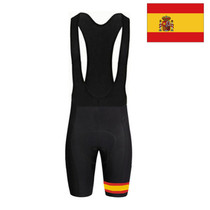 Spain flag Mens Cycling Bib Shorts