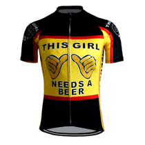 This Girl Needs A Beer Women's Cycling Jersey