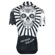 Catrina Skull Cycling Jersey - Never Ride Alone!