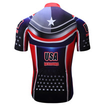 USA Background Stars Stripe Flag Men Cycling Jersey