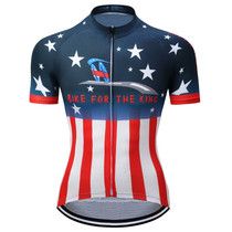 Bike for The King USA Flag Cycling Jerseys