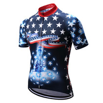 USA Flag Star Theme Statue of Liberty Cycling Jerseys