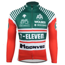 7-Eleven Descente Long Sleeve Retro Cycling Jersey