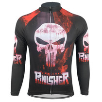 Punisher Mens Long  Sleeve Cycling Jersey
