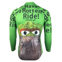 Oscar The Grouch Sesame Street Long Sleeve Cycling Jersey